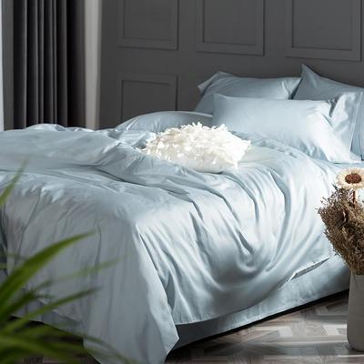 2018新款60支长绒棉纯色四件套 1.8m(6英尺)床 普鲁士蓝