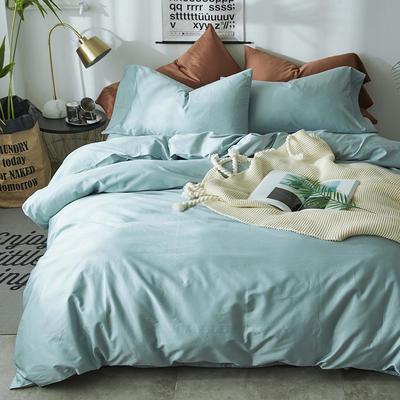 2018新款60支长绒棉纯色四件套 1.8m(6英尺)床 沙漠蓝