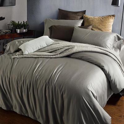2018新款60支长绒棉纯色四件套 1.8m(6英尺)床 绅士灰