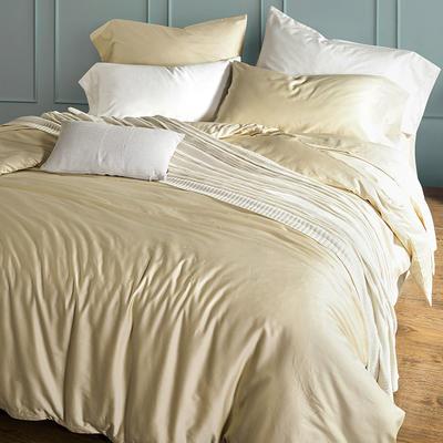 2018新款60支长绒棉纯色四件套 1.8m(6英尺)床 耀沙金