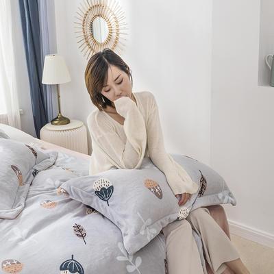 2019新款牛奶絨四件套 1.2m床單款三件套 米拉