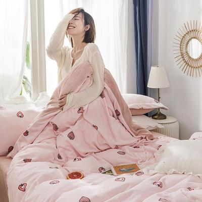 2019新款牛奶絨四件套 1.2m床單款三件套 甜心(粉)