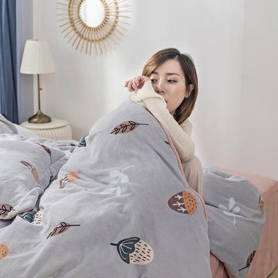 2019新款加厚保暖牛奶绒四件套 1.8m床笠款 米拉
