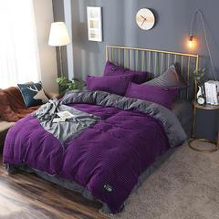 2018新款-魔法绒四件套 1.5m(5英尺)床 紫色