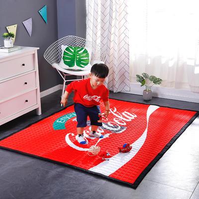 2018新款卡通地垫儿童爬爬垫野餐垫瑜伽垫 150*200 可口可乐