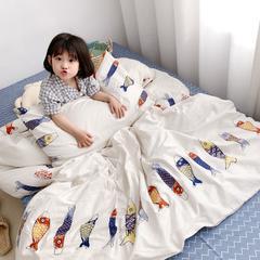 2019新款趣味全棉四件套 1.2m(4英尺)床 年年有鱼