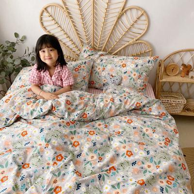 2020新款-13372全棉四件套 床单款四件套1.5m(5英尺)床 漫花遍野