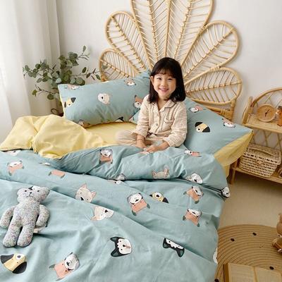 2020新款-13372全棉四件套 床单款四件套1.5m(5英尺)床 萌狗乐园