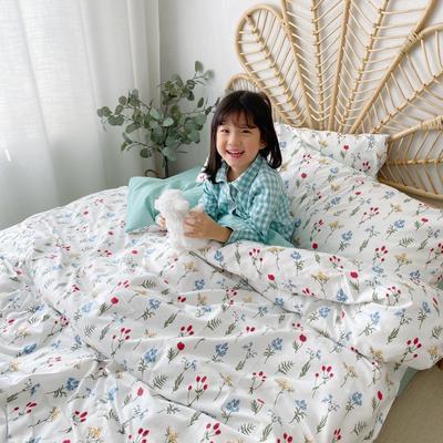 2020新款-13372全棉四件套 床单款四件套1.5m(5英尺)床 清新花语