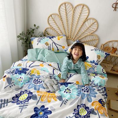 2020新款-13372全棉四件套 床单款四件套1.5m(5英尺)床 太阳花