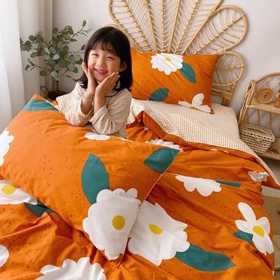 2020新款-13372全棉四件套 床单款四件套1.5m(5英尺)床 小雏菊