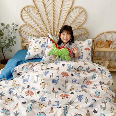 2020新款-13372全棉四件套 床单款四件套1.5m(5英尺)床 侏罗纪