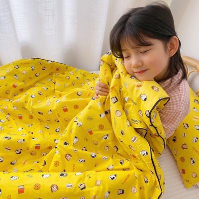 2020新款全棉13372夏被两件套 120x150cm 史努比黄