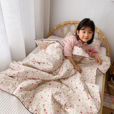 2020新款全棉13372夏被两件套 120x150cm 小草莓