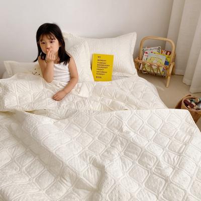 2020新款爱心泡泡夏被床盖三件套 200X230cm三件套 鹅黄