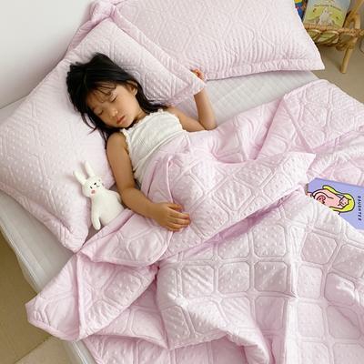 2020新款爱心泡泡夏被床盖三件套 200X230cm三件套 少女粉
