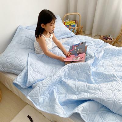 2020新款爱心泡泡夏被床盖三件套 200X230cm三件套 天空蓝