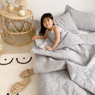 2020新款爱心泡泡夏被床盖三件套 200X230cm三件套 星空灰