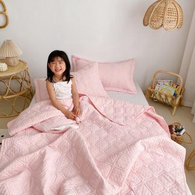 2020新款爱心泡泡夏被床盖三件套 200X230cm三件套 樱花粉
