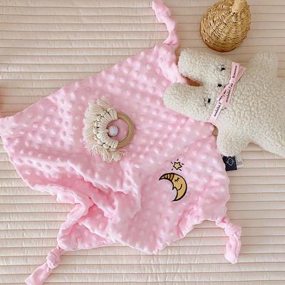 2020新款魔法豆豆安抚巾-40*40cm 粉色