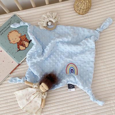 2020新款魔法豆豆安抚巾-40*40cm 蓝色