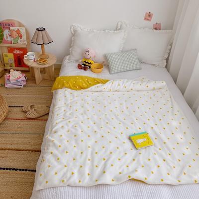 2020新款双层宝宝绒盖毯被 150x200cm 爱心黄