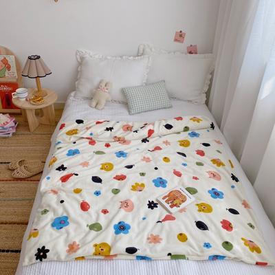 2020新款双层宝宝绒盖毯被 150x200cm 动物花花