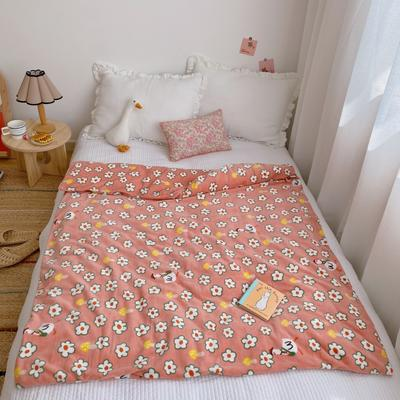 2020新款双层宝宝绒盖毯被 150x200cm 可爱小鹅