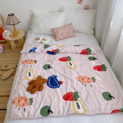2020新款双层宝宝绒盖毯被 150x200cm 小萝卜