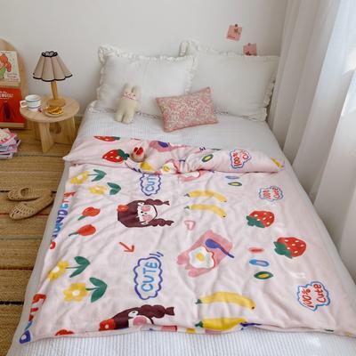 2020新款双层宝宝绒盖毯被 150x200cm 元气少女