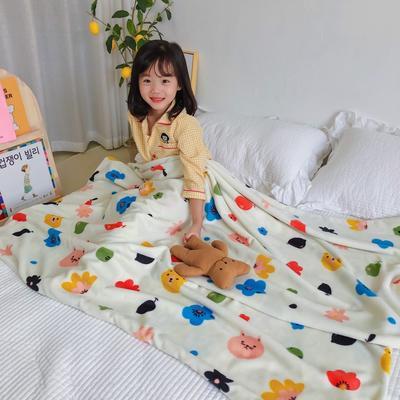 2020新款双层宝宝绒盖毯被-模特图 150x200cm 动物花花