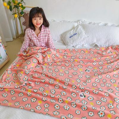 2020新款双层宝宝绒盖毯被-模特图 150x200cm 可爱小鹅