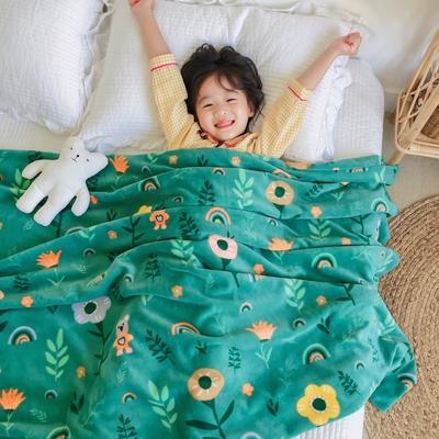 2020新款双层宝宝绒盖毯被-模特图 150x200cm 森林