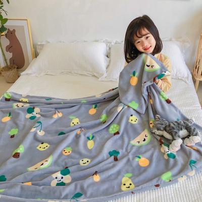 2020新款双层宝宝绒盖毯被-模特图 150x200cm 水果派
