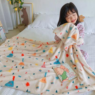 2020新款双层宝宝绒盖毯被-模特图 150x200cm 小饭团