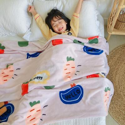 2020新款双层宝宝绒盖毯被-模特图 150x200cm 小萝卜