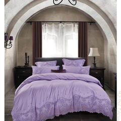 天丝提花A版73.2%莫代尔 26.8%棉 B版60长绒棉 1.5m(5英尺)床 菲丽丝-紫