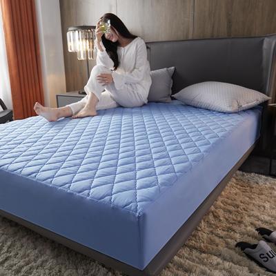 2020年新款超声波磨毛夹棉防水隔尿床笠--素色款 150cmx200cm 淡雅蓝