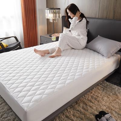 2020年新款超声波磨毛夹棉防水隔尿床笠--素色款 150cmx200cm 高贵白