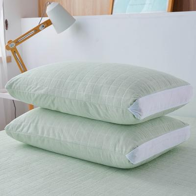 2020年春夏新款立体防水枕套(防口水,防头油,防枕芯霉变) 48*74cm/对 浅绿