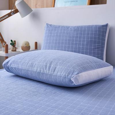 2020年春夏新款立体防水枕套(防口水,防头油,防枕芯霉变) 48*74cm/对 中蓝
