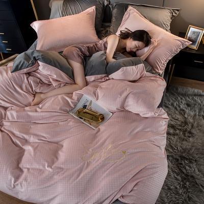 2020新款宝宝绒雕花绣花工艺款保暖四件套 1.5m床单款四件套 ;微笑系-樱花粉