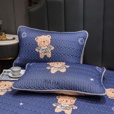 (总)丽芙2021凉感丝乳胶枕套(可与圆网床笠款组合三件套) 48cmX74cm/对 宝莉熊-枕套