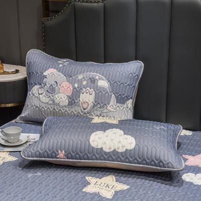 (总)丽芙2021凉感丝乳胶枕套(可与圆网床笠款组合三件套) 48cmX74cm/对 趴趴狗-枕套