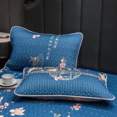 (总)丽芙2021凉感丝乳胶枕套(可与圆网床笠款组合三件套) 48cmX74cm/对 花研-枕套