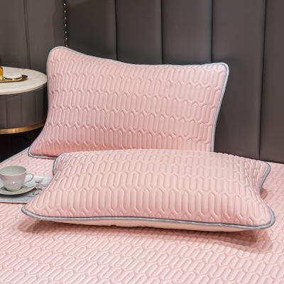 (总)丽芙2021凉感丝乳胶枕套(可与圆网床笠款组合三件套) 48cmX74cm/对 淡雅玉-枕套