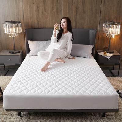 (总)丽芙2021新款超声波夹棉磨毛防水床笠(抗菌防螨)—素色 150cmx200cm 高贵白