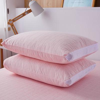 (总)丽芙2021新款立体防水枕套(A类,抗菌防螨) 48cmX74cm/对 浅粉
