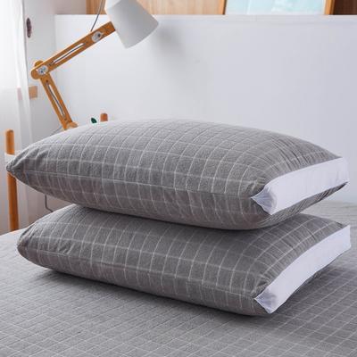 (总)丽芙2021新款立体防水枕套(A类,抗菌防螨) 48cmX74cm/对 浅灰