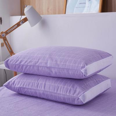 (总)丽芙2021新款立体防水枕套(A类,抗菌防螨) 48cmX74cm/对 浅紫